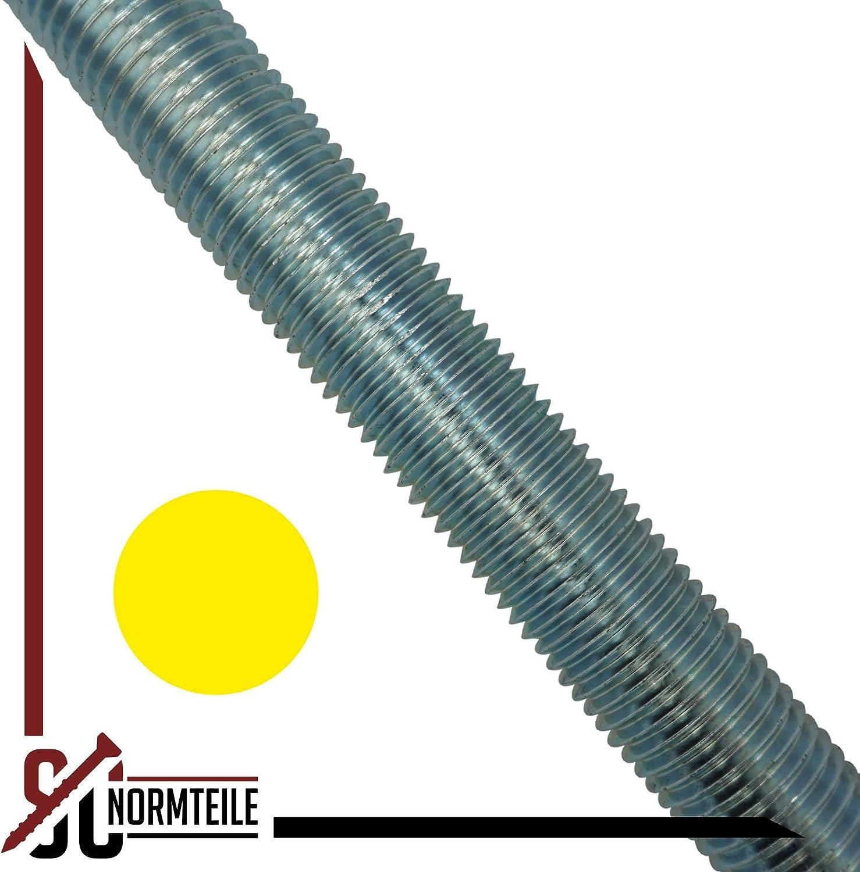 - DIN 976 // DIN 975 SC-Normteile M18 x 1000 mm - Gewindestange galvanisch verzinkt SC976 5 St/ück G/üte 8.8