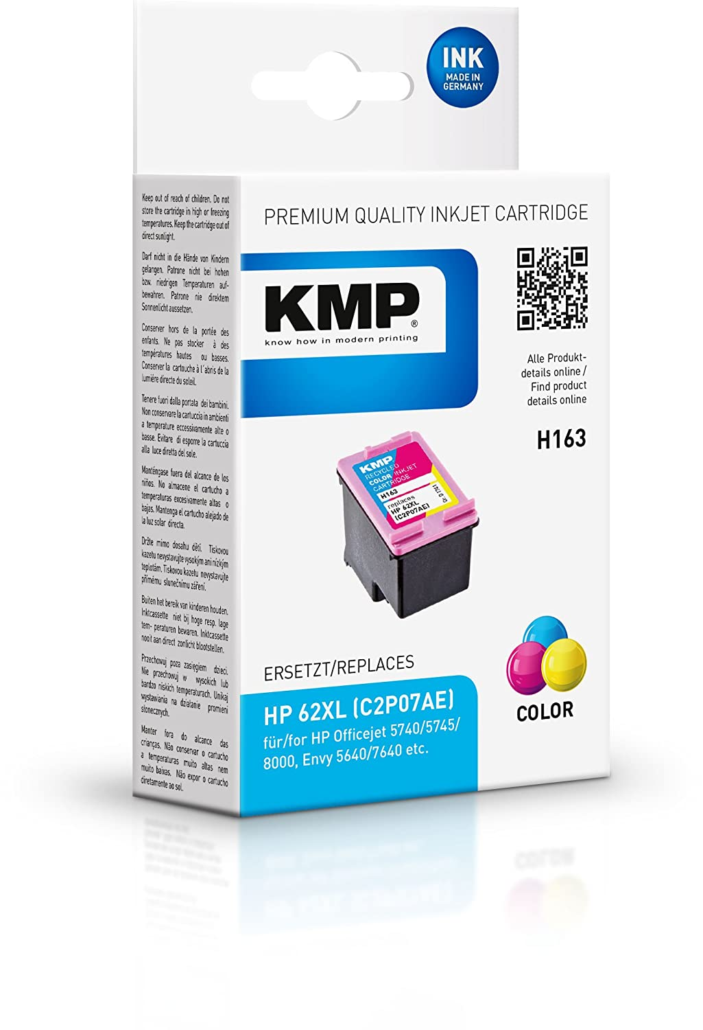 KMP - Cartucho de tinta para HP Officejet 5740; Envy 5640 ...