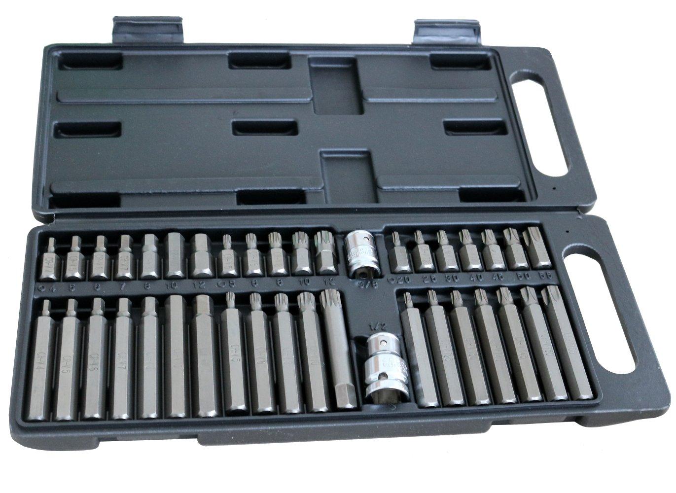 AERZETIX: Caja con 39 puntas de destornillador Torx Allen ...
