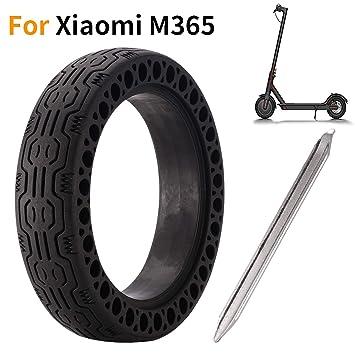 EMEBAY - Rueda de Repuesto de 8,5 Pulgadas de sólido 8 1/2X2 + Palanca de llanta para Delantero/Trasero de neumáticos Xiaomi Mijia M365 Scooter ...