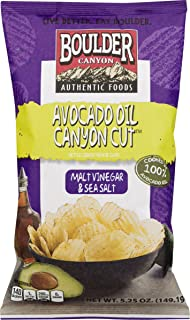 product image for Boulder Canyon Authentic Foods Avocado Oil Kettle Cooked Potato Chips- 5.25 oz. Bags (Malt Vinegar & Sea Salt, 4 Bags)