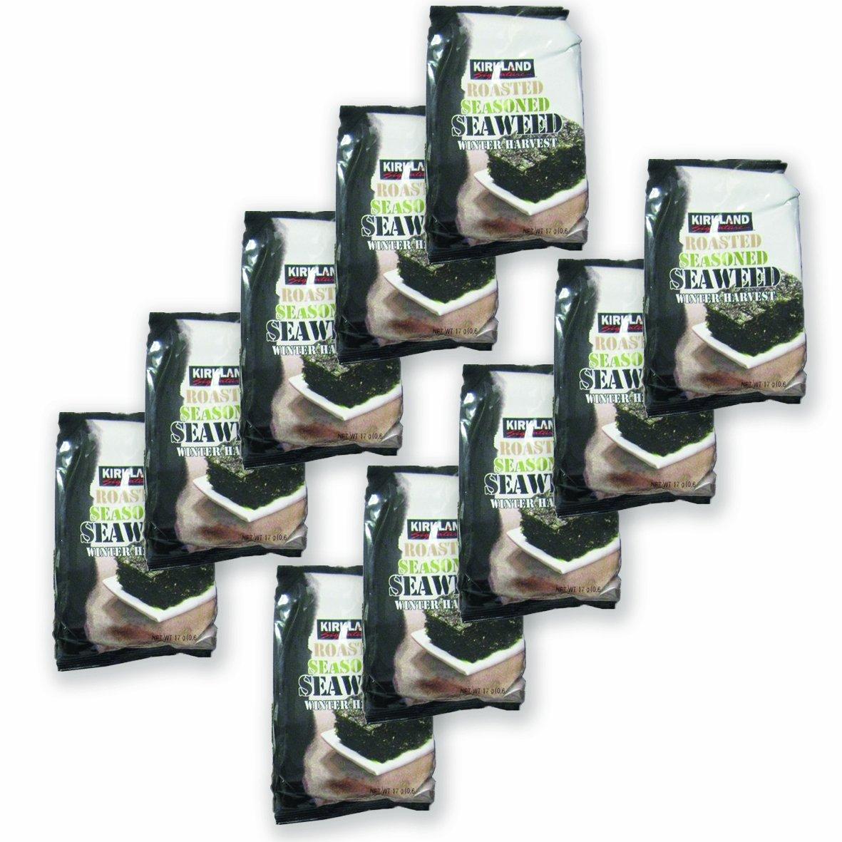 50 Pack Kirkland Signature Roasted Seasoned Seaweed Winter Harvest- 17gm Package
