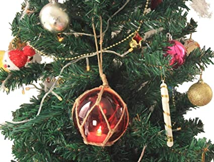 Japanese Christmas Tree.Amazon Com Led Lighted Red Japanese Glass Ball Fishing