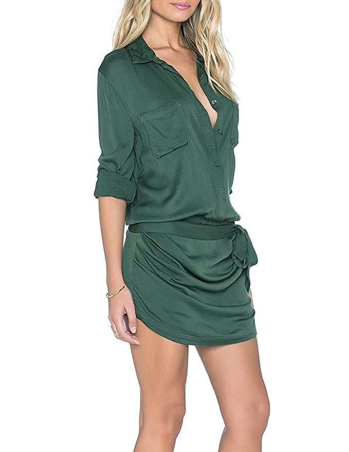 acf9f14e1a17 Amazon.com  HaoDuoYi Womens Soft Belt Formal Chic Stylish Rompers Jumpsuits  (XL)  Clothing