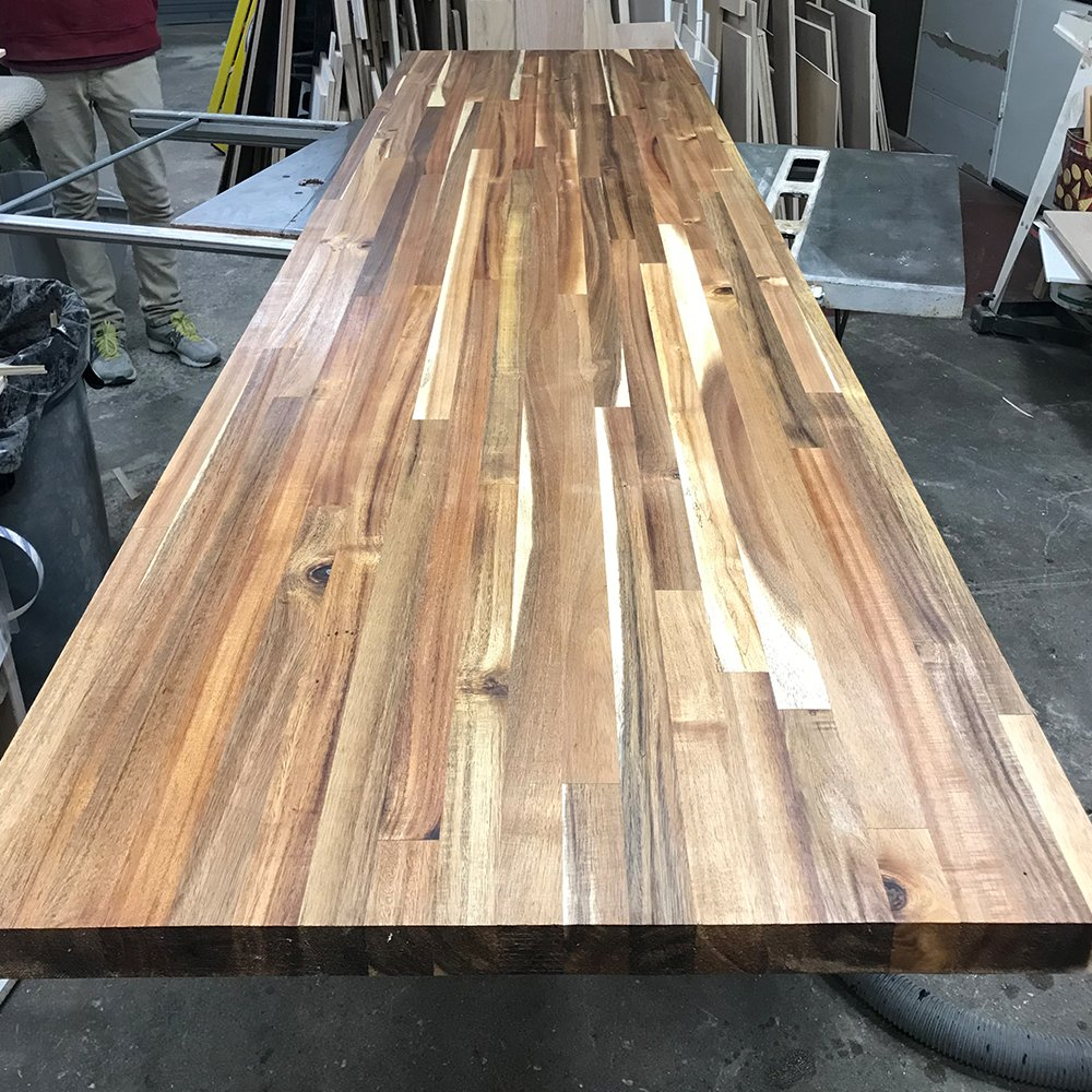 Acacia Butcher Block Countertop - Custom Size - 72 Inches Length x 25 Inches Width x 1-1/2 Inches Thick