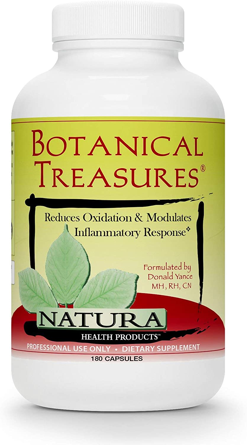 Natura Health Products, Botanical Treasures, Turmeric, Green Tea, Antioxidant 180 Caps