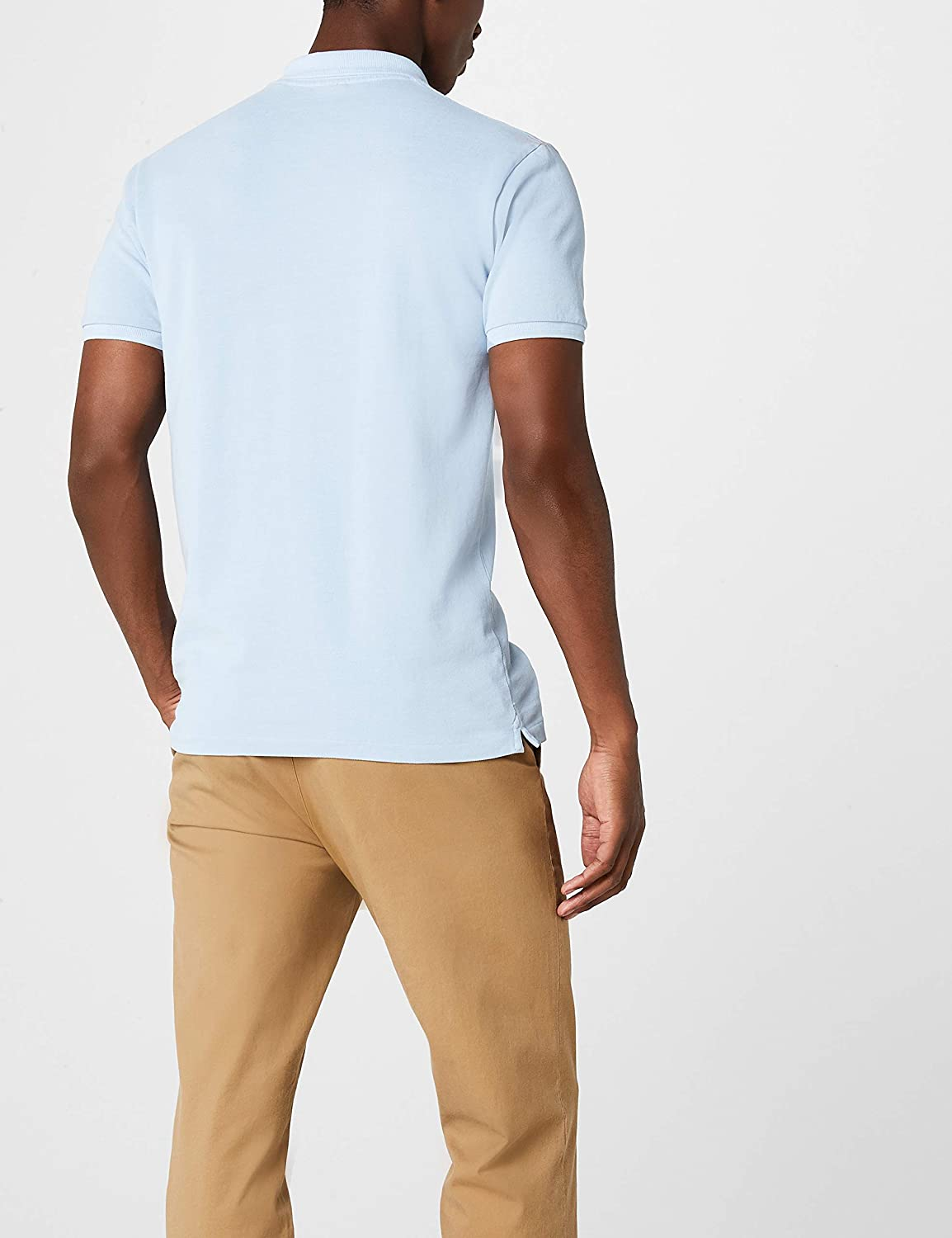 Scotch /& Soda Mens Garment-Dyed Polo Shirt