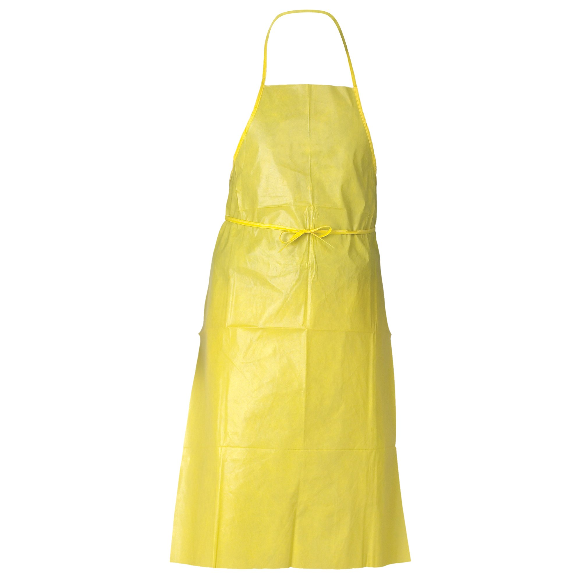 Kleenguard A70 Chemical Spray Protection Aprons (97790), Bound Seams, Neck & Ties, One Size, Yellow, 100 / Case
