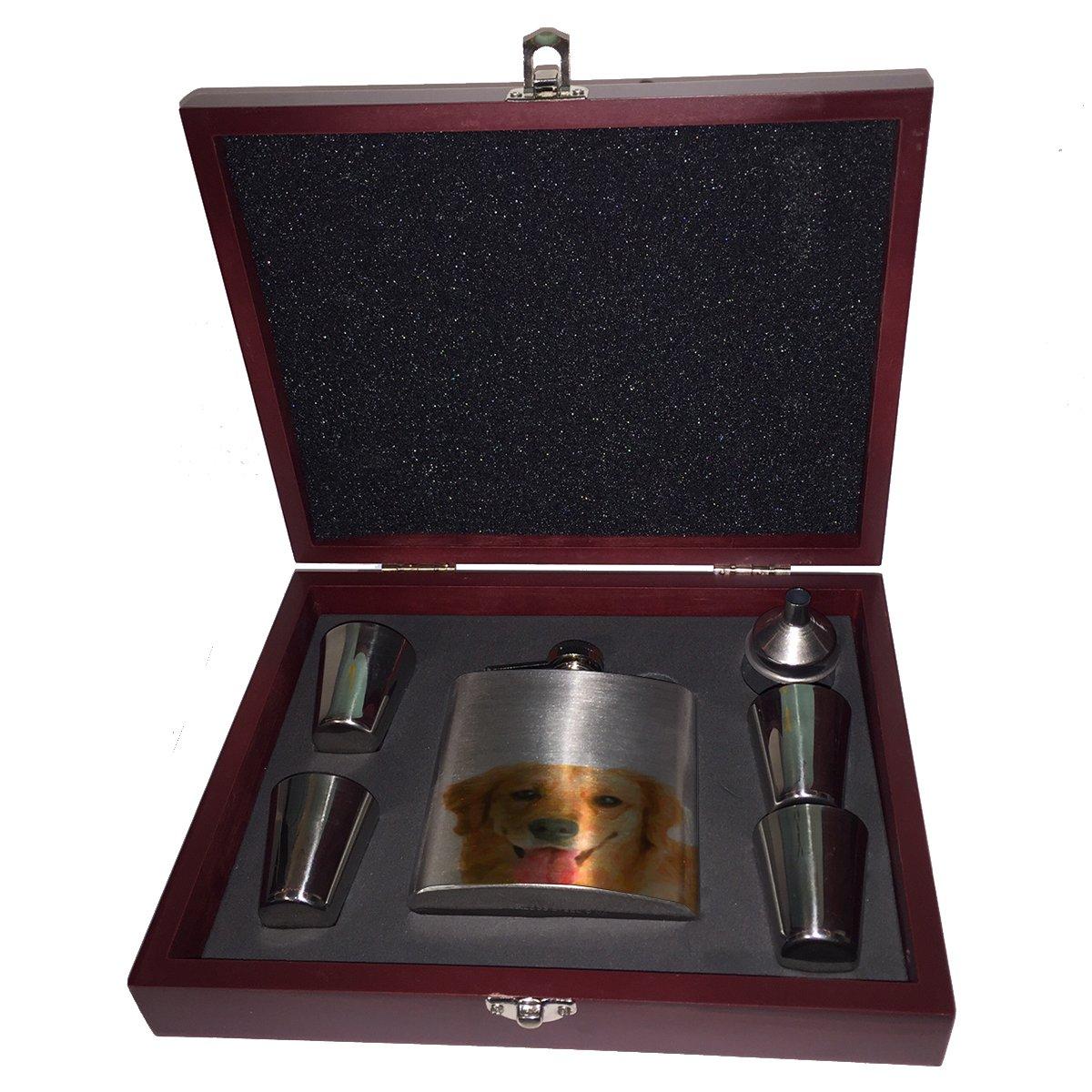 『4年保証』 Golden Retriever Retriever – フラスコ木製ボックスギフトセット B01JYSON5G – B01JYSON5G, 錦鯉のカネヒコ:c95aa8ff --- a0267596.xsph.ru