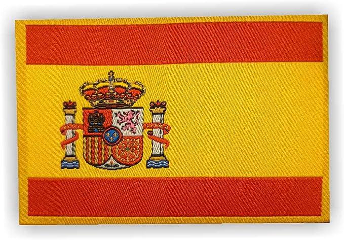 1 parche genérico de la bandera de España, aprox. 8 cm x 5 cm ...