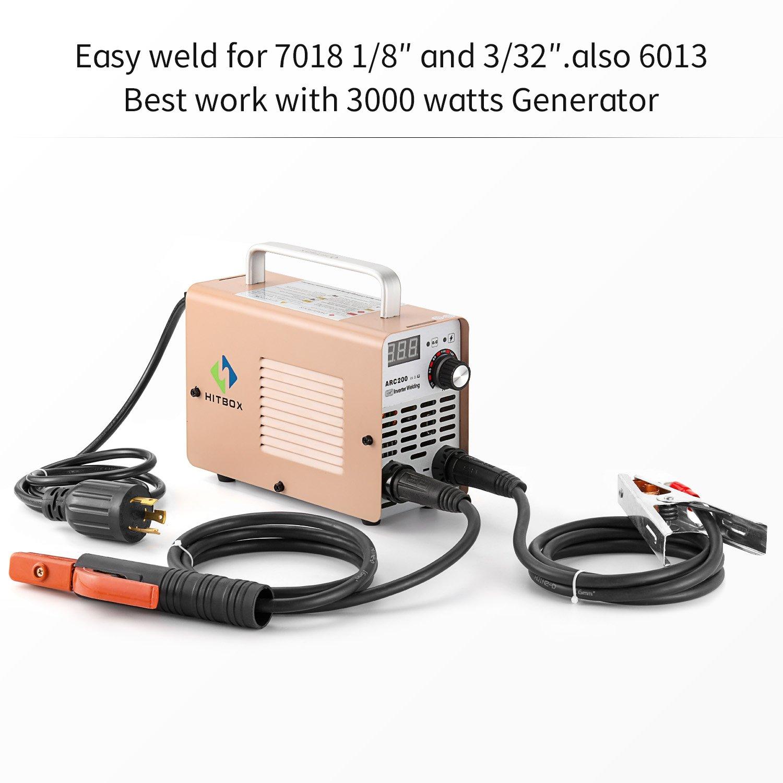 ARC Welder 200A Stick DC 220V Inverter Welding Machine MMA200 ZX7 Rod Stick  Portable Welder Complete Package Ready to Use - - Amazon.com