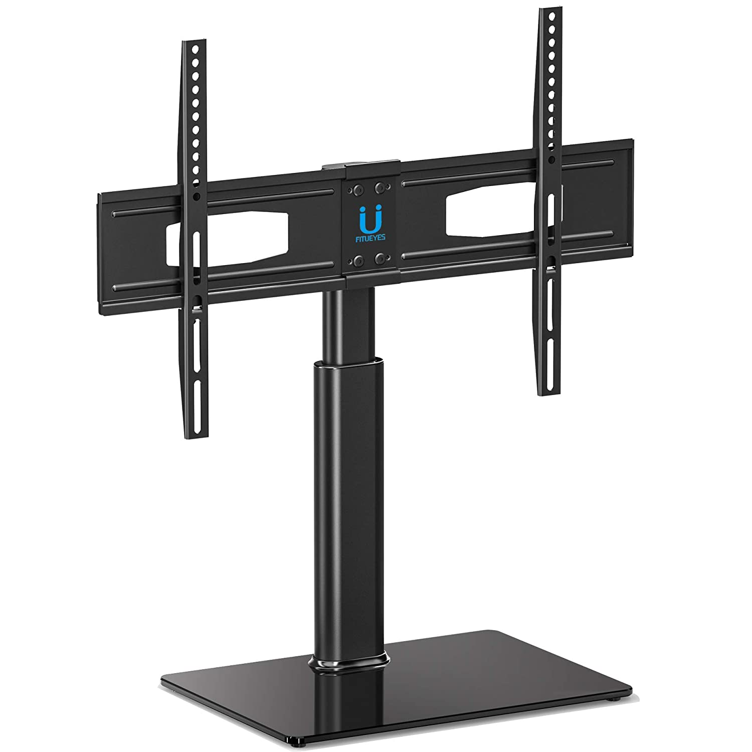 FITUEYES Swivel Universal TV Stand Height Adjustable Fit Most 32'-60 inch Flat Curved Screen Vizio/Sumsung/Sony Tvs Max VESA 400x600 TT105202GB