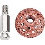 Qiilu 38mm Tire Repair Tool Grinding Head Coarse Grit Buffing Wheel Kits with Linking Rod Adapter