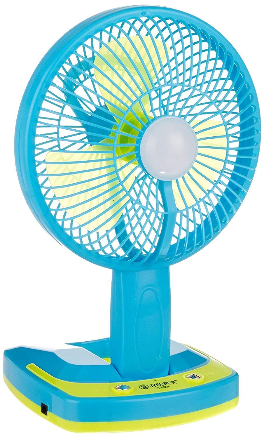 REBORN 5590 Powerful Folding Rechargeable Table Fan with 21SMD LED Lights, table fans for home, table fans, table fans for home with stand Assorted Color product image
