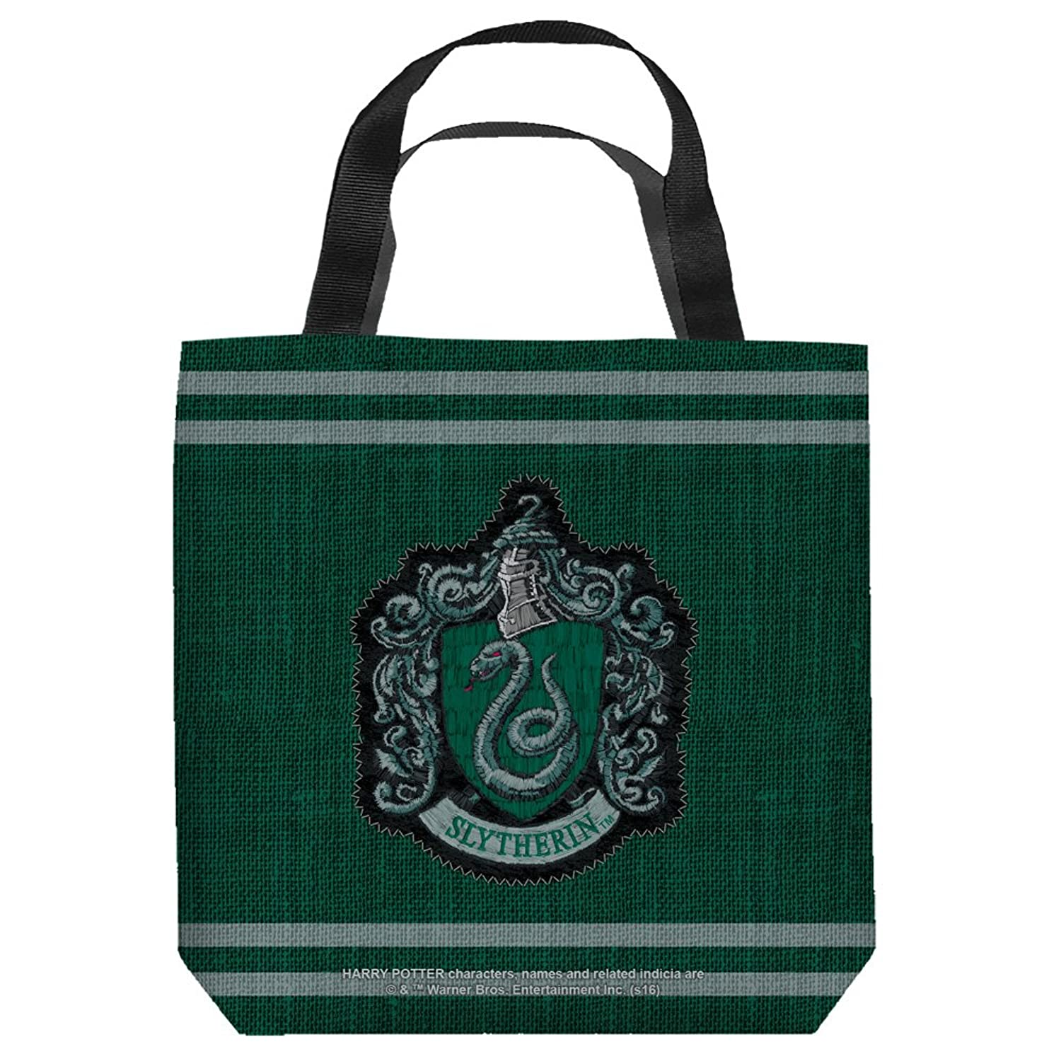Harry Potter Slytherin Stitch Crest Tote Bag