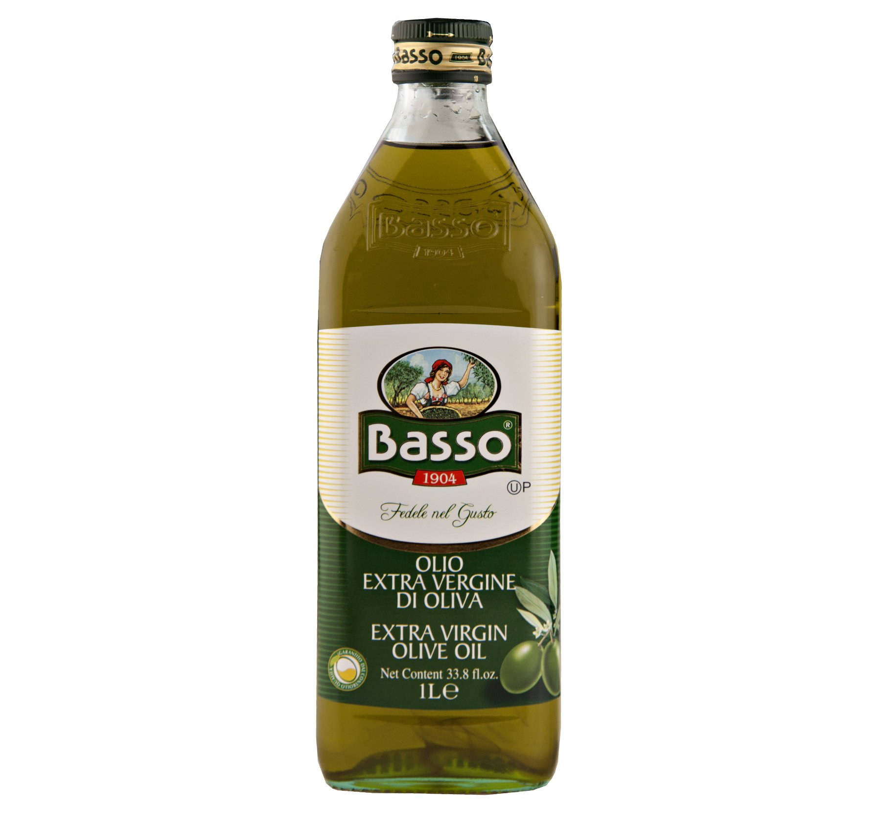 Basso Extra Virgin Olive Oil 1 Liter, 33.8 fl. oz. (12 Bottles)