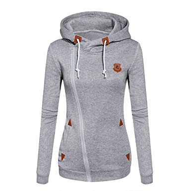Doris Batchelor Nice Womens Fashion Fleeces Sweatshirts Ladies Hooded Candy Colors Solid Sweatshirt Long Sleeve Zip
