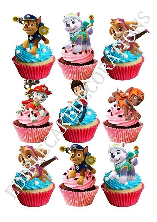 Decoración de papel comestible para cupcakes, 30 unidades ...