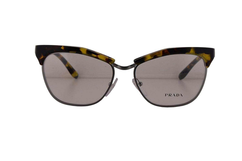 2236483a373 Prada Journal PR14SV Eyeglasses 55-16-140 Yellow Havana UBN1O1 VPR14S   Amazon.co.uk  Clothing