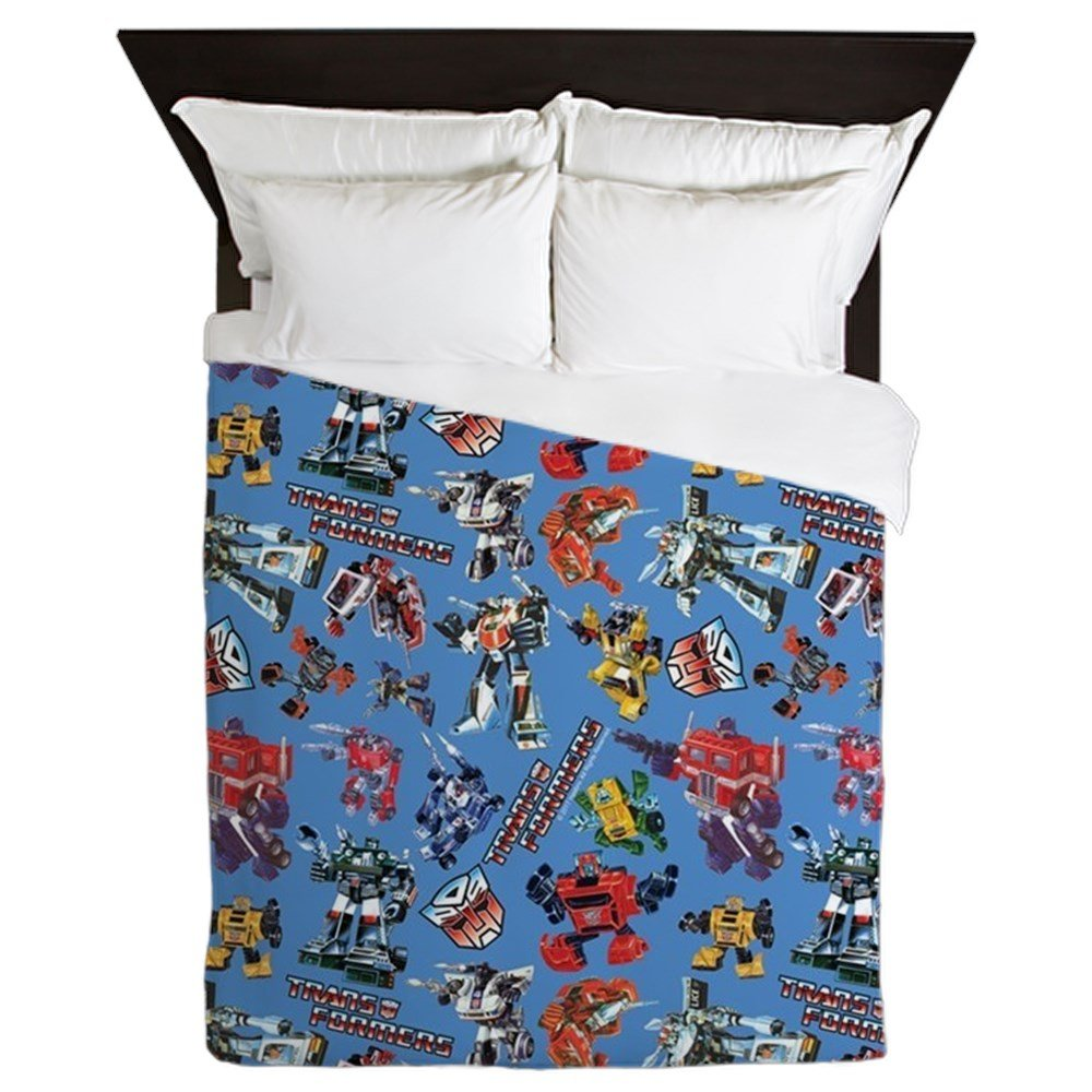 CafePress Transformers Vintage Pattern - Queen Duvet Cover, Printed Comforter Cover, Unique Bedding, Microfiber