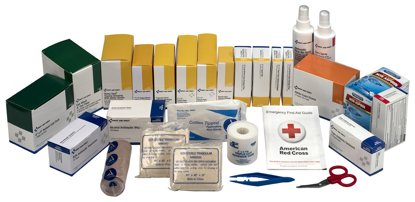 Pac-Kit by First Aid Only 6155R 489 Piece 3 Shelf First Aid Station Refill