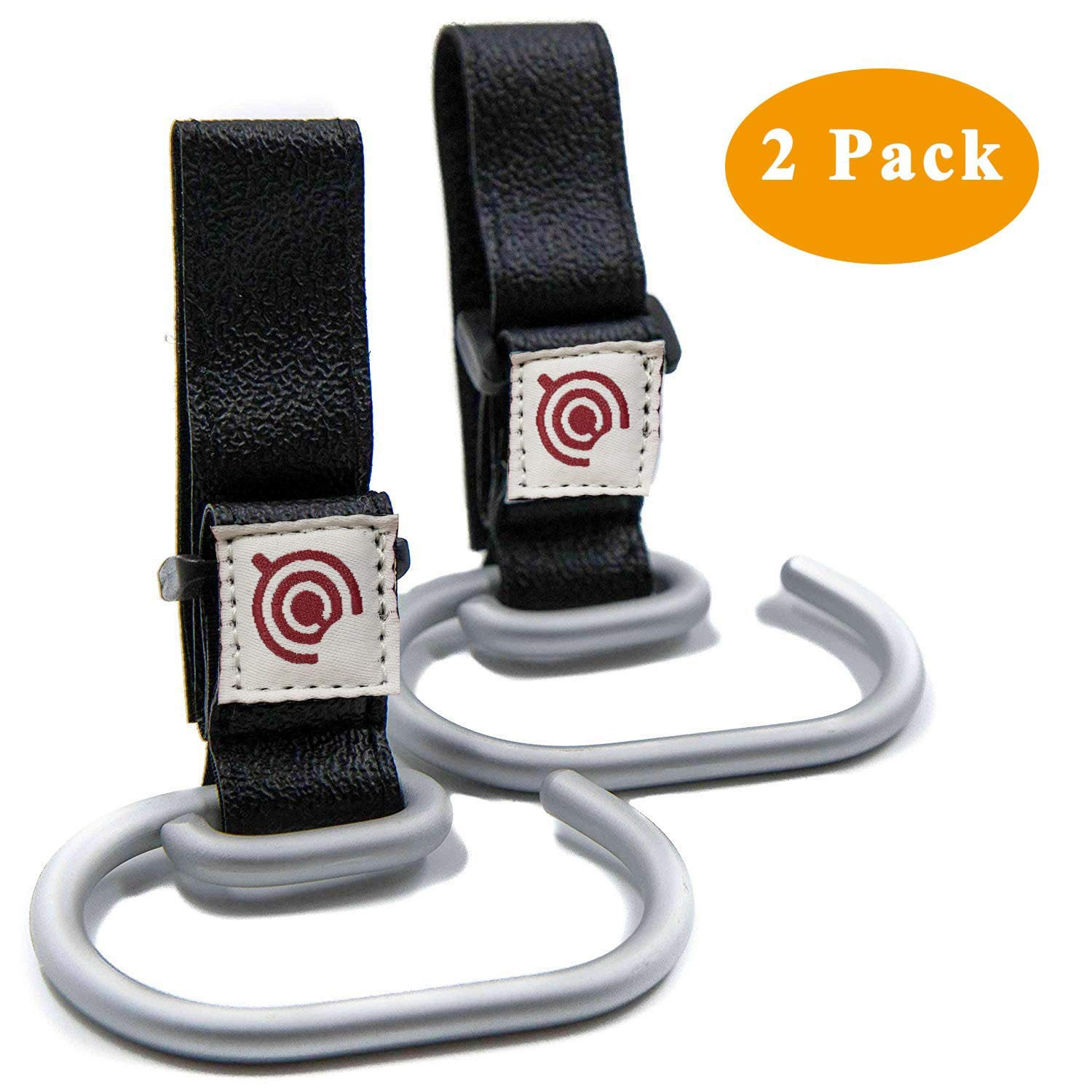 2 Pack Baby Stroller Hooks Universal Bags Clips  Durable Aluminum Stroller Holders for Attaching Shopping Bag, Diaper Changing Bag 71jfhGXY8ML
