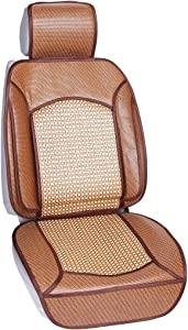 Qbedding Soothing Drive Cooling Series Universal Fit Breathable Car Seat Covers (Rattan)
