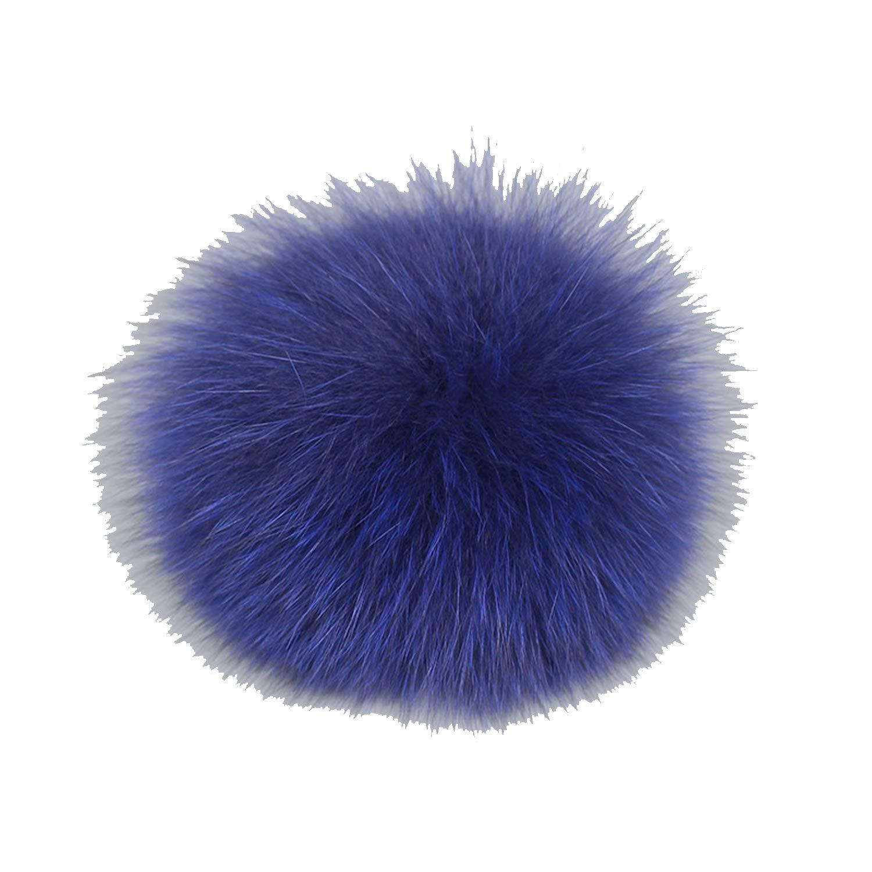 Real Fox Fur Pompom for Women Hat Fur Pom Poms for Hats Caps Big Natural Raccoon Fur Pompon for Knitted hat