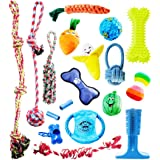 Pacific Pups Products supporting PacificPupRescue.com - 18 Piece Dog Toy Set with Dog Chew Toys, Rope Toys for Dogs, Plush Do