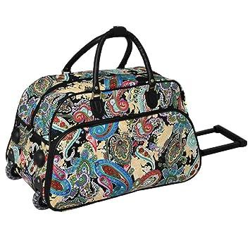 1pc Color Paisley Rolling Carry Duffle Bag c82ad18853cbc