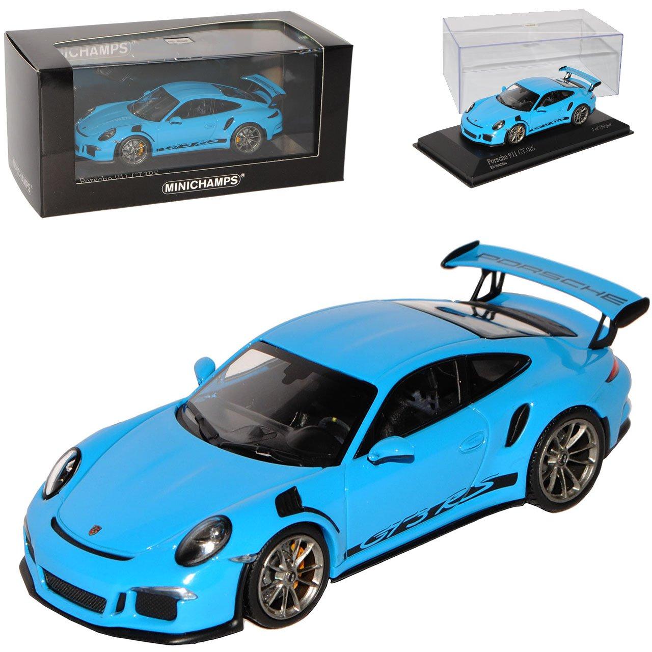 Minichamps Porsche 911 991 GT3 RS Riviera Blau Ab 2013 1/43 Modell Auto