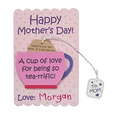 Mother's Day Tea Cup of Love Card Craft Kit (Makes 12 ) Crafts for Kids and Fun Home Activities: Toys & Games