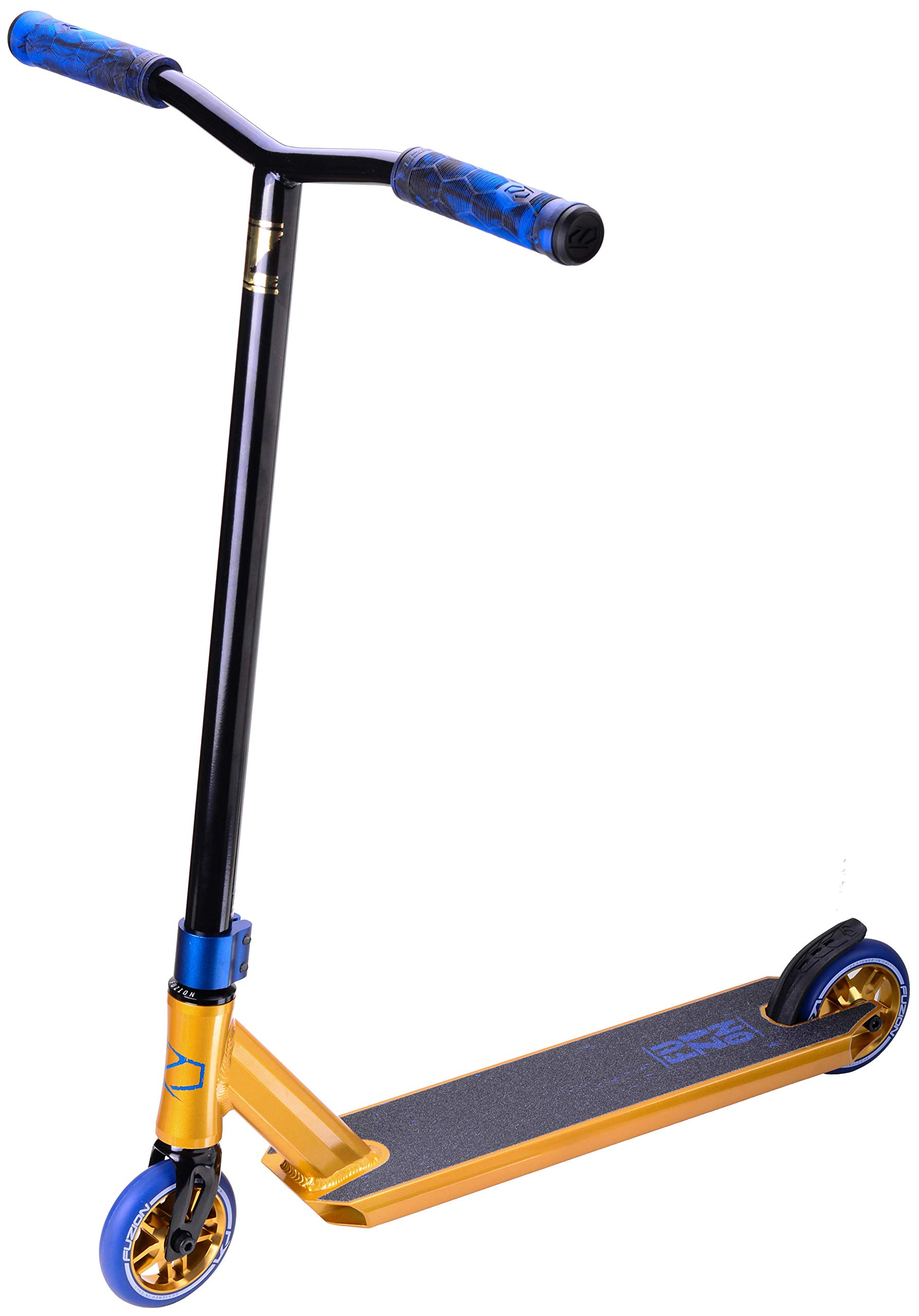 Fuzion Z250 Pro Scooters - Trick Scooter - Intermediate and Beginner Stunt Scooters for Kids 8 Years and Up, Teens and Adults - Durable Freestyle Kick Scooter for Boys and Girls (2019 Gold) by Fuzion