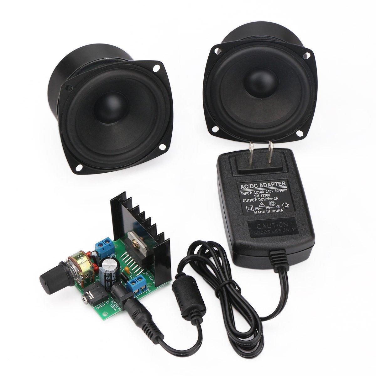 DROK Mini Ampli Board 6V to 18V Portable Stereo Amplifier Digital Amp Module Audio Amplify Dual Channel 15W+15W