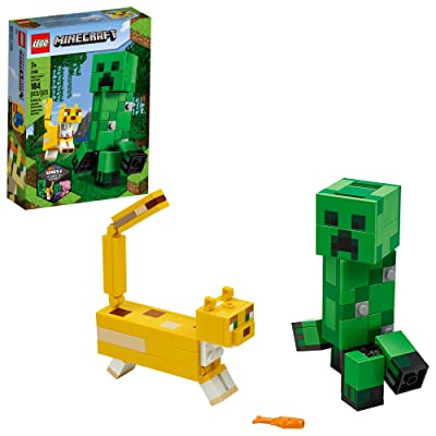 LEGO Minecraft Creeper BigFig and Ocelot Characters 21156 Buildable Toy Minecraft Figure Gift Set for Play and Decoration, New 2020 (184 Pieces): Toys & Games
