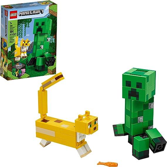 Amazon Com Lego Minecraft Creeper Bigfig And Ocelot Characters