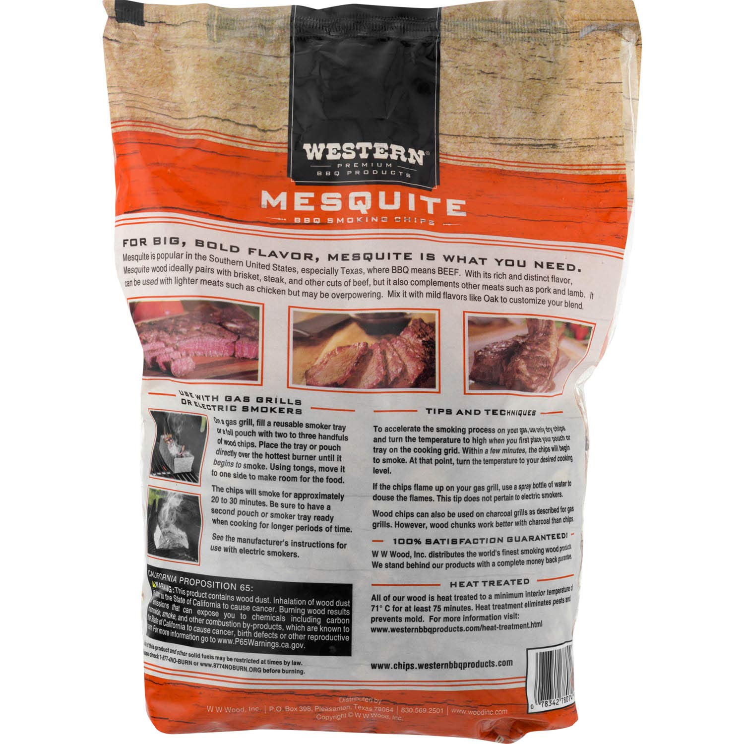 Western Premium BBQ Products Mesquite Smoking Chips, 6 Pack