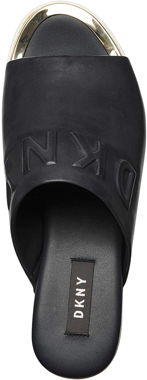 DKNY Covo Platform Femme Sandales Noir: