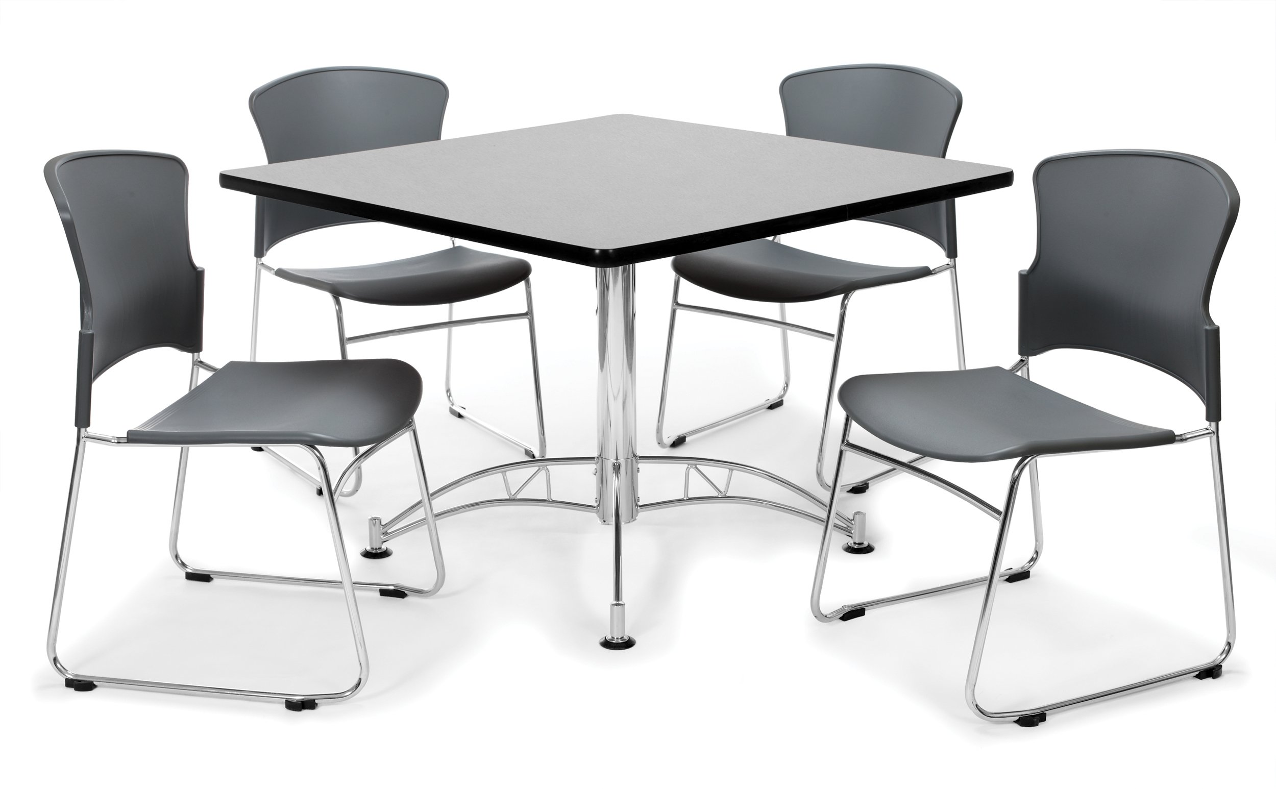OFM PKG-BRK-09-0005 Breakroom Package, Gray Nebula Table/Gray Chair by OFM