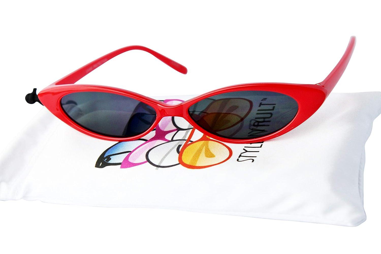 KD3117 Kids Girls 3~10 year old Skinny tiny Sharp high point Cateye sunglasses 48)