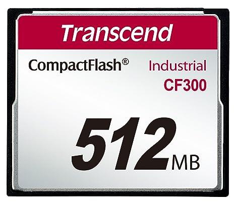 Transcend TS512MCF300 Memoria Flash 0,5 GB CompactFlash SLC - Tarjeta de Memoria (0,5 GB, CompactFlash, SLC, 57 MB/s)