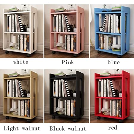 Shelves CAICOLOUR Small Wooden Childrens Bookshelf Floor Bookcase With Wheels Removable Simple Rack 6