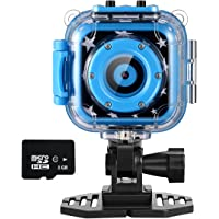Ourlife Kids 8GB Memory Card Waterproof Camera with Video Recorder Includes (Blue)