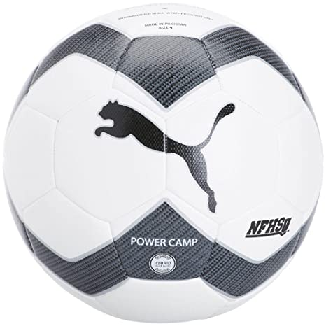 Puma Power Camp 2.0 NFHS - Balón de fútbol, 5, Blanco/Negro ...