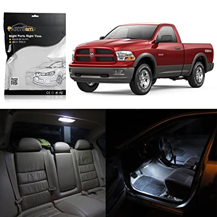 Partsam 2009 2015 Dodge Ram 1500 2500 3500 White Interior LED Light Package  Kit With