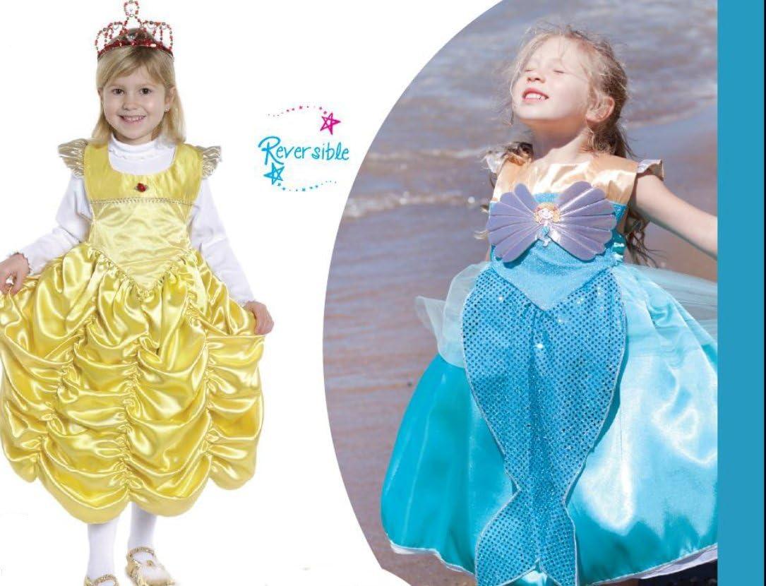 Vestido reversible de la Bella y Sirenita. 2 vestidos en 1. Talla ...
