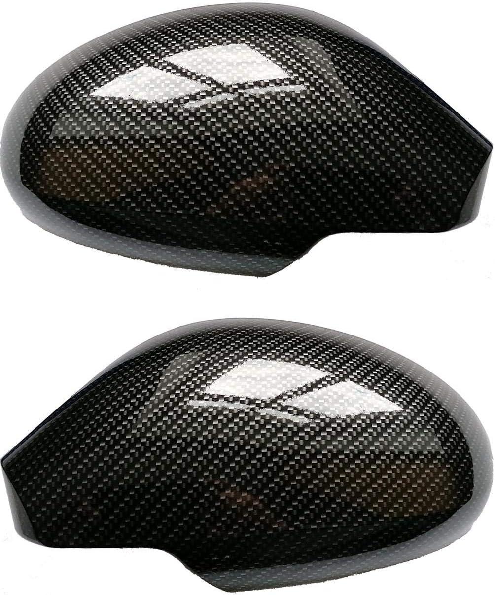 Set Spiegelkappen Geh/äuse Carbon-Optik passend f/ür Ibiza 3 Cordoba Toledo 3 Altea Wassertransferdruck