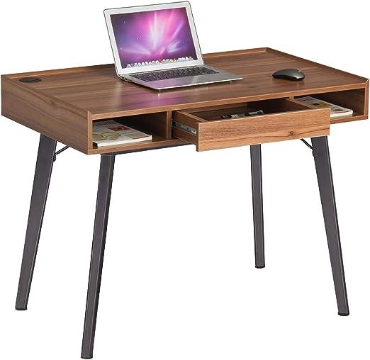 Retro Estilo Vintage Mesa de Ordenador con cajón para Oficina en ...