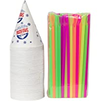 Cups and Straws (50 Cups & 50 Straws)