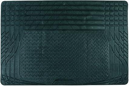 Tapis de coffre auto voiture en PVC d/écoupable antid/érapant et universel 120 x 80 cm coloris noir